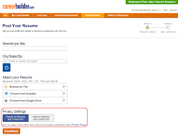 career builder resume search how do i block an employer from viewing my resume careerbuilder also offers privacy settings to fit your needs when posting a resume you can select public or private