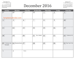 december 2016 calendar templates 2016 calendar template for december