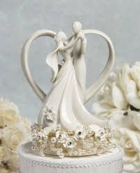 vintage cake topper wedding collectibles vintage pearl and heart