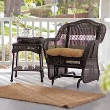 Wicker Accent Table Resin Patio Tables Foter