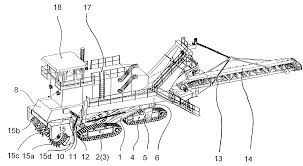 patent us6276758 surface miner with tilting superstructure for