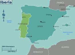 Algeria On Map Iberia Regions Map U2022 Mapsof Net