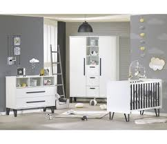 sauthon chambre bebe commode 2 tiroirs 3 niches graphite sauthon