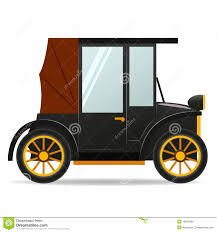 cartoon old retro car in black color royalty free stock images