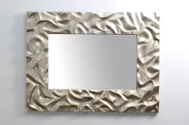 Home Interior Mirror Silver Sand Ripple Mirror Forwood Design