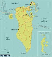 Picture Of Map Map Of Bahrain Overview Map Worldofmaps Net Online Maps And