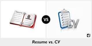 cv vs resume the differences difference between cv resume