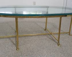 Brass And Glass Coffee Table Brass Coffee Table Etsy