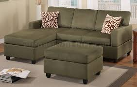 Small Sectional Sofa Collection In Sectional Sofa With Ottoman Sage Microfiber