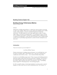 bsd 152 building energy performance metrics building science