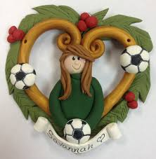 polymer clay soccer christmas ornament polymer clay christmas