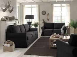 salon avec canapé noir deco canape noir dco salon gris avec un canap tout confort 55 ides