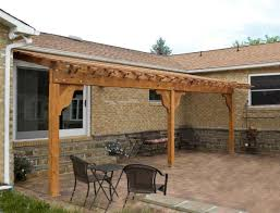 Pergola Blueprints by Exterior Design White Pergola Plans Ideas With Brown Wall And