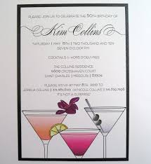 cocktail birthday party invitations luxury cocktail party birthday
