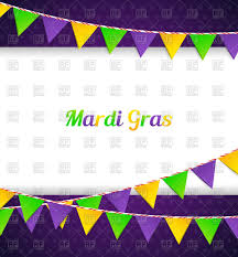 mardi gras banner mardi gras card with garlands bunting flags royalty free vector