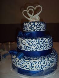 wedding cake royal blue royal blue and white wedding cake cakecentral