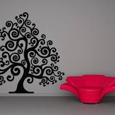 swirly festive whimsical tree decal sticker wall home decor