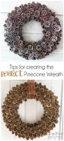 how to create a perfect pinecone wreath with easy tips