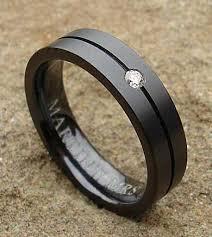 black zirconium wedding bands black zirconium wedding rings shoulder cut domed black wedding