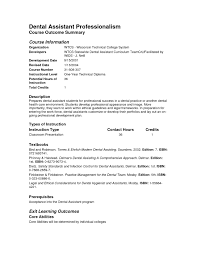 dental assistant resume templates dental assistant cover letters no experience resume exles dental