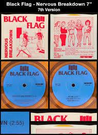 Blue And Black Flag Old Punk Rock Info Black Flag Nervous Breakdown Vinyl