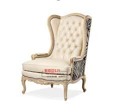 canapé dossier haut vintage en cuir fauteuil dossier haut canapé chaise tigre bois