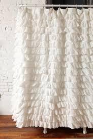 Gypsy Ruffled Shower Curtain Ruffled Shower Curtain Gray Ruffle Shower Curtain View Full Size