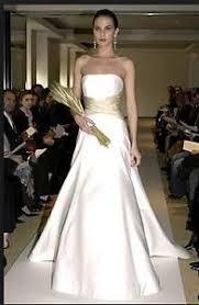ivory wedding dress carolina herrera ivory wedding gown with chagne sash ebay