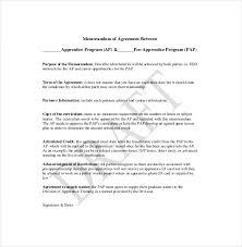 12 memorandum of agreement templates u2013 free sample example