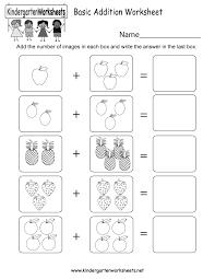 addition worksheet kindergarten koogra