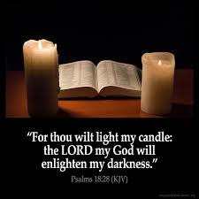 light in the darkness verse psalms 18 28 inspirational image