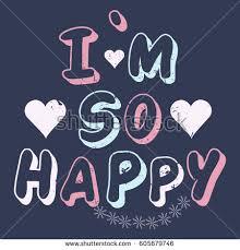 slogan im happy graphic patches illustration stock vector