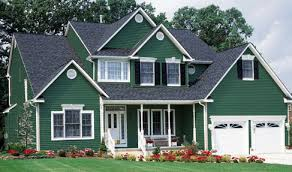 the exterior can have the combination of bright and dark green
