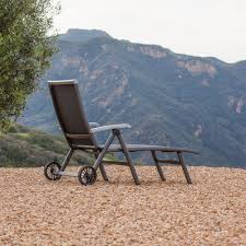 Outdoor Chaise Lounge Chairs With Wheels Royal Garden Ludwig Aluminum Folding Chaise Lounge Chair With Wheels