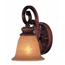 Minka Lavery Wall Sconce Minka Lavery Belcaro 1 Light Walnut Bath Light 5951 126 The Home