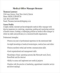 Resume Examples For Medical Office by 42 Manager Resume Templates Free U0026 Premium Templates