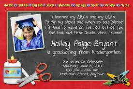 kindergarten graduation invitations custom photo kindergarten pre school graduation invitation