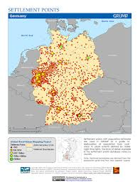Map Of Germany And Austria by Maps Global Rural Urban Mapping Project Grump V1 Sedac