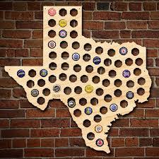 Beer Map Texas Beer Cap Map