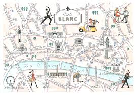French Map Carte Blanc Mapping London