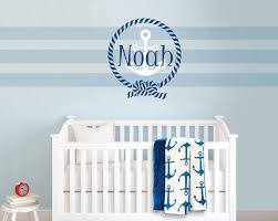 aliexpress com buy personalised boys name wall stickers for baby aliexpress com buy personalised boys name wall stickers for baby boy room removable sailor themed anchor wall decal mural diy home decor za291 from