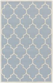 Area Rugs White Modern Rug Transit Awhe 2018 Light Blue White Geometric Trellis