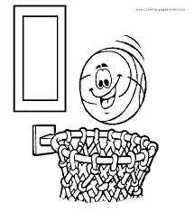 basketball color coloring pages kids sports coloring