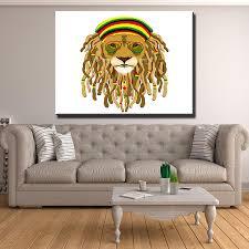 dark rasta lion canvas set canvas freaks