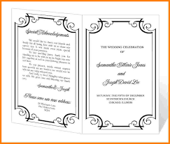 Wedding Program Templates Word 8 Program Template Cna Resumed
