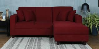 buy three seater sofa with lounger in dark grey colour by acme