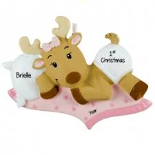 moose and reindeer christmas ornaments personalized ornaments