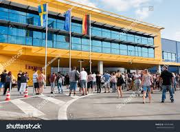 New Ikea Magdeburg Germany August 31 2017 Visitors Stock Photo 707214481