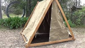 Wooden Tent by Constructing A Viking Tent Youtube