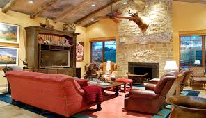 living room design with red sofa for you by luxury home designer